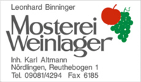 Mosterei Weinlager Binninger